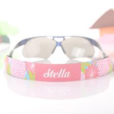 Correa para gafas de sol de color rosa y florales personalizados