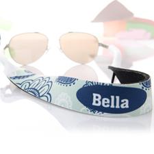 Correa para gafas de sol Aqua y azul Floral personalizados