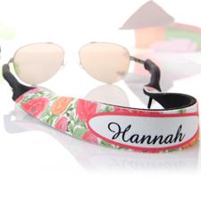 rojo y naranjado Floral personalizados correa de gafas de sol