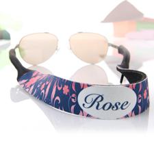 Correa de gafas de sol personalizada rosa y azul marino