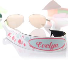 Aqua y rosado Flamingo personalizados correa de gafas de sol