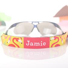 Correa para gafas de sol personalizado de Flamingo Amarillo y Rosado