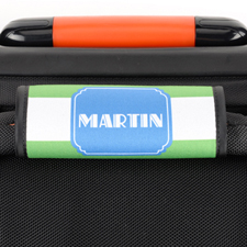 Lime Stripe Personalized Luggage Handle Wrap