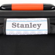 Envoltura de asas de equipaje personalizada de cadena gris