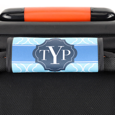 Blue Moroccan Personalized Luggage Handle Wrap