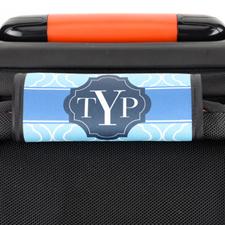 Envoltura de asas del equipaje personalizada de color azul marroquí