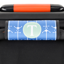 Navy Anchor Personalized Luggage Handle Wrap