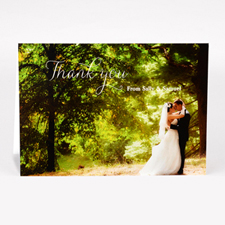 Personalized Script Thank You Photo Card For Wedding