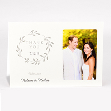 Personalized Thank You For Your Generosity With Love Photo Card For Wedding