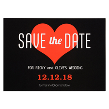 Heart Personalized Save The Date Card