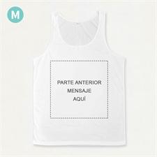 Mensaje impreso a todo color personalizado Camiseta tipo tank top unisex (solo en la parte delantera)(Medium)