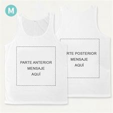 Impresión  a todo color personalizado Camiseta tipo tank top unisex  (Medium)