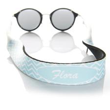 Luz azul símbolos correa de gafas de sol monogramada