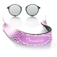 Símbolos de lavanda correa de gafas de sol monogramada