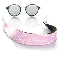 Símbolos rosados correa de gafas de sol monogramada