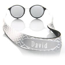 Símbolos grises correa de gafas de sol monogramada
