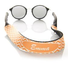 Símbolos naranjas correa de gafas de sol monogramada