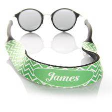 Símbolos verdes correa de gafas de sol monogramada