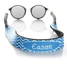 Símbolos azules correa de gafas de sol monogramada