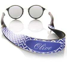 Símbolos púrpuras correa de gafas de sol con monograma