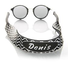 Símbolos negros correa de gafas de sol con monograma