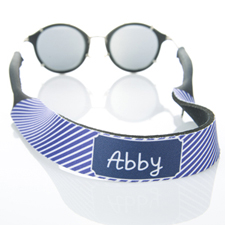 Rayas púrpuras correa de gafas de sol monogramadas