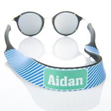 Rayas azules correa de gafas de sol monogramadas