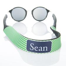 Rayas verdes correa de gafas de sol monogramadas