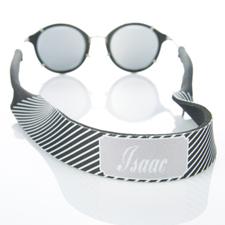 Rayas negras correa de gafas de sol monogramadas