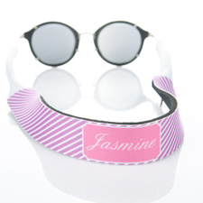 Rayas lavanda correa de gafas de sol monogramada
