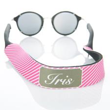 Rayas rosadas calientes correa de gafas de sol monogramada
