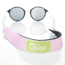 Rayas rosas correa de gafas de sol monogramatizada