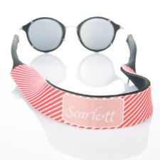 Correa de gafas de sol monogramatizada de rayos rojos