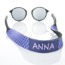 Correa de gafas de sol monograma de cuatro hojas de color púrpura