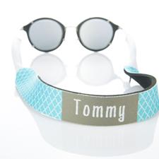 Correa de gafas de sol monograma Aqua Quatrefoil