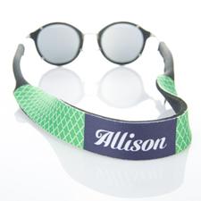 Correa de gafas de sol verde de cuatro hojas monogramadas