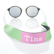 Correa de gafas de sol monograma de cuatro hojas de color verde lima