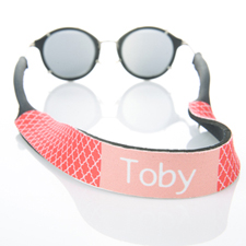 Correa de gafas de sol rojo Quatrefoil Monogramado
