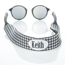 Correa de gafas de sol con monograma de dientes de sabueso