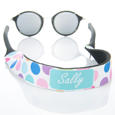 Correa de gafas de sol de puntos de colores monogramados