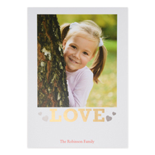 Foil Gold Love Personalized Valentine's Day Card