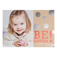 Foil Silver Be Loved Personalized Valentine's Day Card