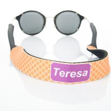 Correa de gafas de sol monograma de círculo naranja entrelazado