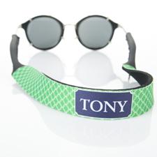 Correa de gafas de sol verde entrelazada y monogramada