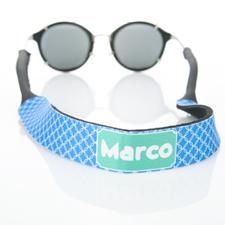 Correa de gafas de sol monograma de círculo azul entrelazado