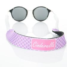 Correa de gafas de sol monogramada con círculo entrelazado de lavanda