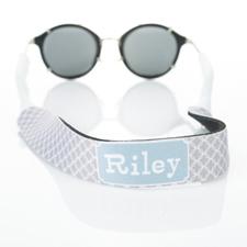 Correa de gafas de sol monograma de círculo gris entrelazado