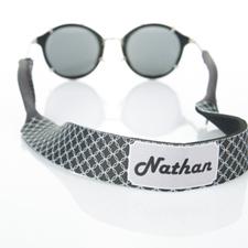 Correa de gafas de sol monograma de círculo negro entrelazado