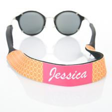 Correa de gafas de sol con monograma de círculo naranja