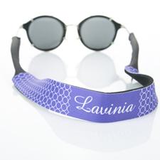 Correa de gafas de sol con monograma de círculo púrpura
